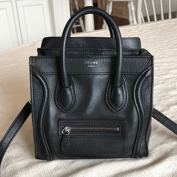 4153620e9c67 Celine Handbags - Celine Nano Phantom Black Luggage Cross Body Bag